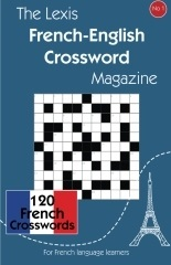 French-English crossword book